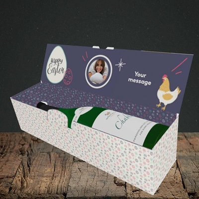 Picture of Easter Hen, Easter Design, Lay-down Bottle Box