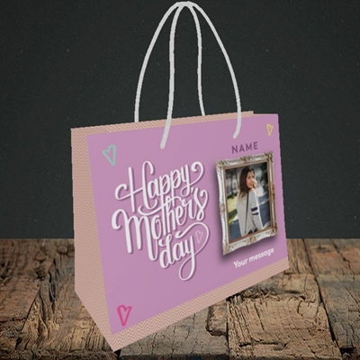 Picture of Happy Mother's Day, Mother's Day Design, Small Landscape Gift Bag