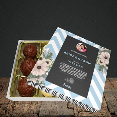 Picture of Zigzag Blue B&G, Wedding Design, Choc 9