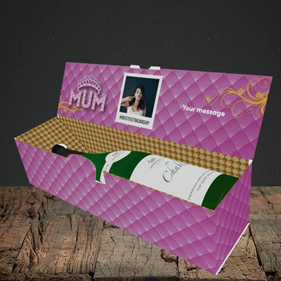 Picture of Bestest Mum, Mother's Day Design, Lay-down Bottle Box