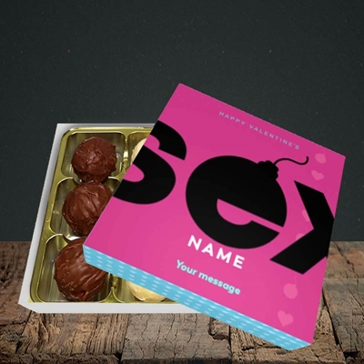Picture of Sex Bomb - Pink(Without Photo), Valentine Design, Choc 9