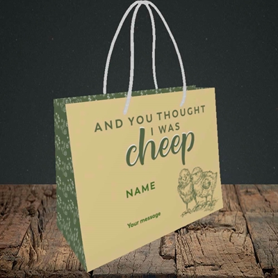 Picture of Cheep, (Without Photo) Easter Design, Small Landscape Gift Bag