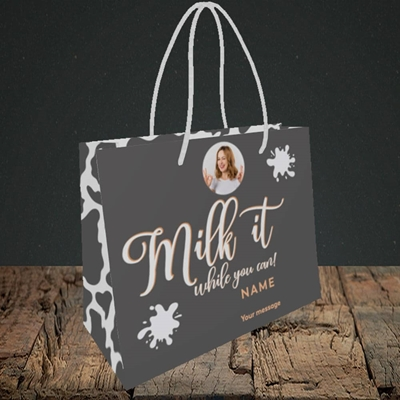 Picture of Milk It, Get Well Soon Design, Small Landscape Gift Bag