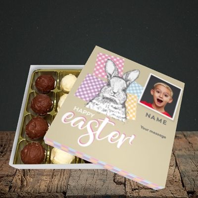 Picture of Patchwork Rabbit, Easter Design, Choc 16
