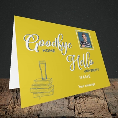 Picture of Hello University, Leaving Design, Landscape Greetings Card
