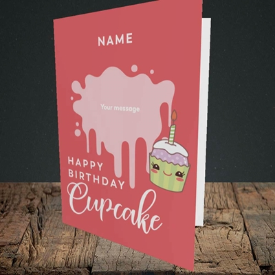 Picture of Cupcake(Without Photo), Birthday Design, Portrait Greetings Card