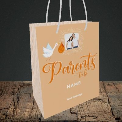 Picture of Parents To Be, Pregnancy Design, Small portrait Gift Bag