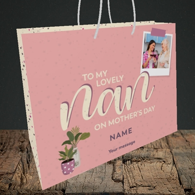 Picture of Lovely Nan, Mother's Day Design, Medium Landscape Gift Bag