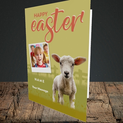 Picture of Lamb To See You, Easter Design, Portrait Greetings Card