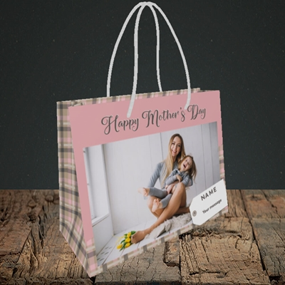 Picture of 1. Large Photo(Chequer), Mother's Day Design, Small Landscape Gift Bag