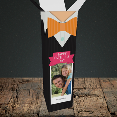 Picture of Bowtie, Father's Day Design, Upright Bottle Box