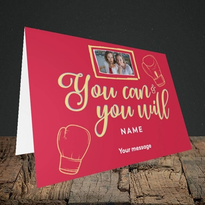 Picture of You Can & You Will, Thinking of You Design, Landscape Greetings Card