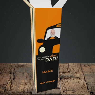 Picture of Uber Dad, Father's Day Design, Upright Bottle Box