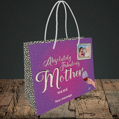 Picture of Absolutely Fabulous, Mother's Day Design, Small Landscape Gift Bag
