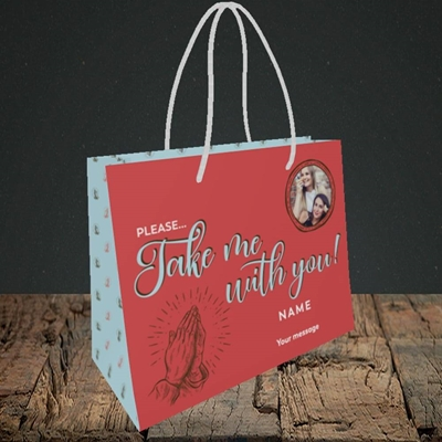 Picture of Take Me With You, Leaving Design, Small Landscape Gift Bag