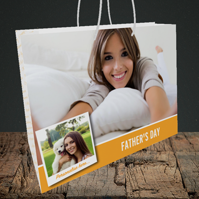 Picture of Photo, Father's Day Design, Medium Landscape Gift Bag