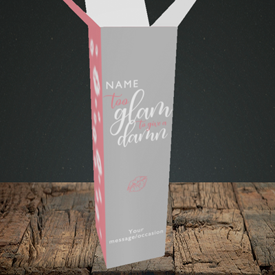 Picture of Glam, (Without Photo) Birthday Design, Upright Bottle Box