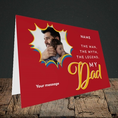 Picture of Man, Myth, Legend, Father's Day Design, Landscape Greetings Card