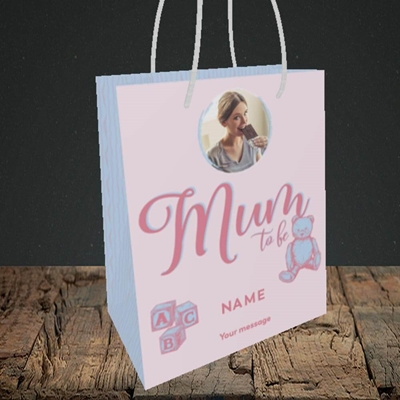 Picture of Mum To Be, Pregnancy Design, Small portrait Gift Bag