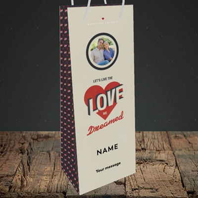 Picture of Let's Live The Love, Valentine's Design, Bottle Bag