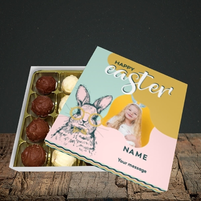 Picture of Bunny With Glasses, Easter Design, Choc 16