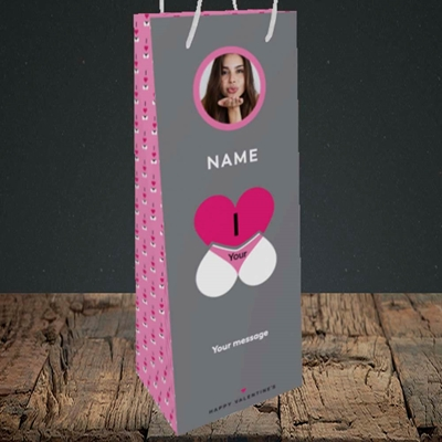 Picture of I Love Your Bum, Valentine's Design, Bottle Bag
