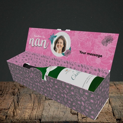 Picture of Happy Mother's Day Nan, Mother's Day Design, Lay-down Bottle Box