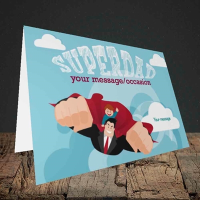 Picture of Superdad,(Without Photo) Father's Day Design, Landscape Greetings Card