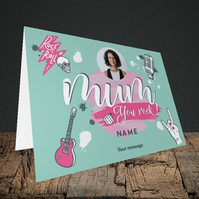Picture of Mum You Rock, Mother's Day Design, Landscape Greetings Card