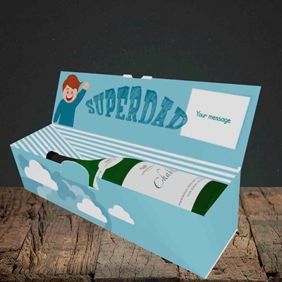 Picture of Superdad,(Without Photo) Father's Day Design, Lay-down Bottle Box
