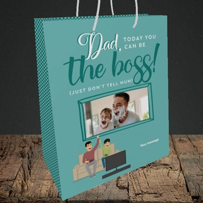 Picture of The Boss, Father's Day Design, Medium Portrait Gift Bag