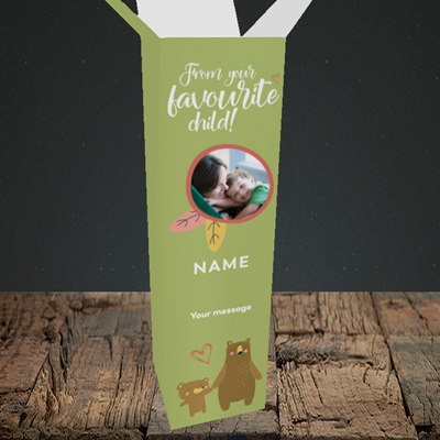 Picture of Favourite Child, Mother's Day Design, Upright Bottle Box