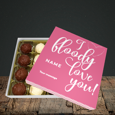 Picture of I Bloody Love You(Without Photo), Valentine's Design, Choc 16