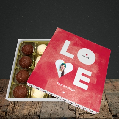 Picture of Love Type (Stacked), Valentine Design, Choc 16