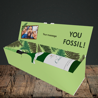 Picture of Fossil, Birthday Design, Lay-down Bottle Box