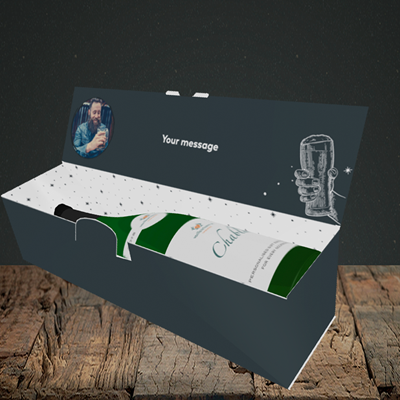 Picture of Time for a Beer, Christmas Design, Lay-down Bottle Box
