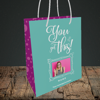 Picture of Got this, Good Luck Design, Small Portrait Gift Bag