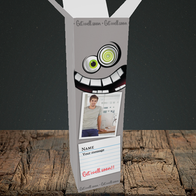 Picture of Mad, Get Well Soon Design, Upright Bottle Box
