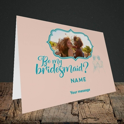 Picture of Be My Bridesmaid, Wedding Design, Landscape Greetings Card
