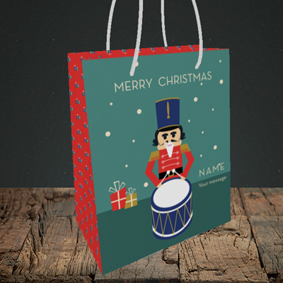 Picture of Drummer Boy(Without Photo), Christmas Design, Small Portrait Gift Bag