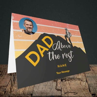 Picture of Dad Above The Rest, Father's Day Design, Landscape Greetings Card
