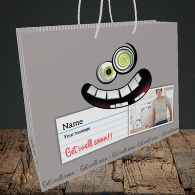 Picture of Mad, Get Well Soon Design, Medium Landscape Gift Bag
