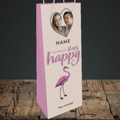 Picture of Happy Flaps, Valentine's Design, Bottle Bag
