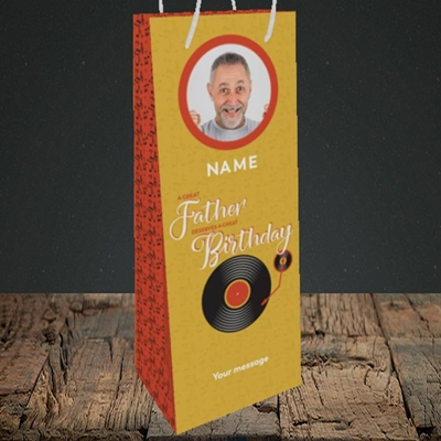 Picture of Great Father, Birthday Design, Bottle Bag