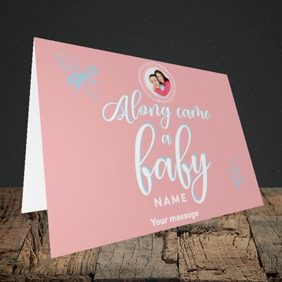 Picture of Along Came A Girl, New Baby Design, Landscape Greetings Card