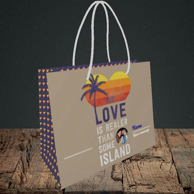 Picture of Our Love Is Realer, Valentine's Design, Small Landscape Gift Bag