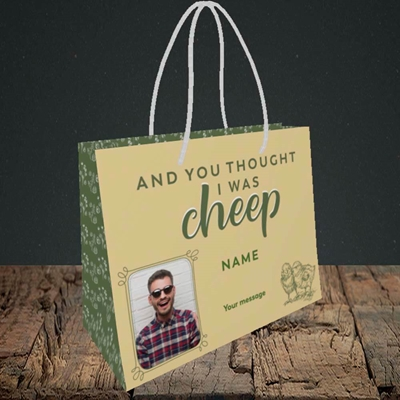 Picture of Cheep, Easter Design, Small Landscape Gift Bag