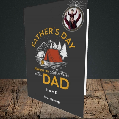 Picture of Adventure With Dad, Father's Day Design, Portrait Greetings Card