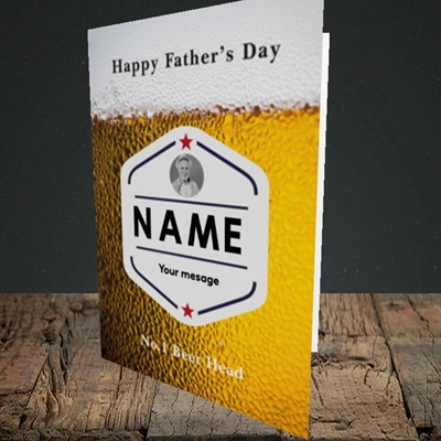 Picture of Premium Father, Father's Day Design, Portrait Greetings Card