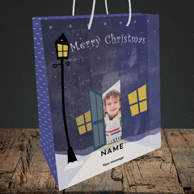 Picture of Lamp Post, Christmas Design, Medium Portrait Gift Bag